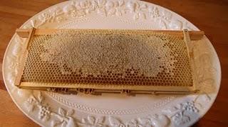 A frame of sealed honey!