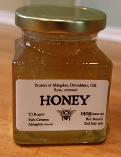 My first jar of honey!